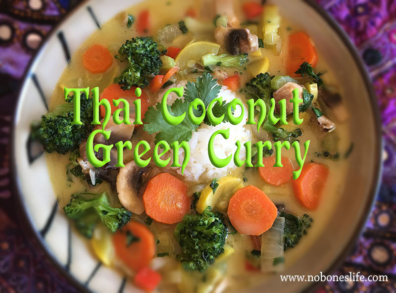 Thai coconut green curry