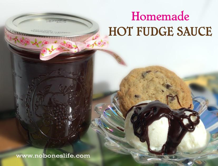Homemade Hot Fudge Sauce by noboneslife.com