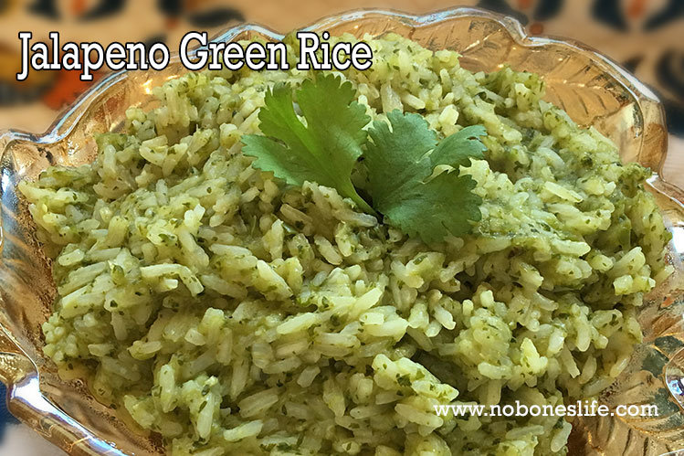 Jalapeno Green Rice by noboneslife.com