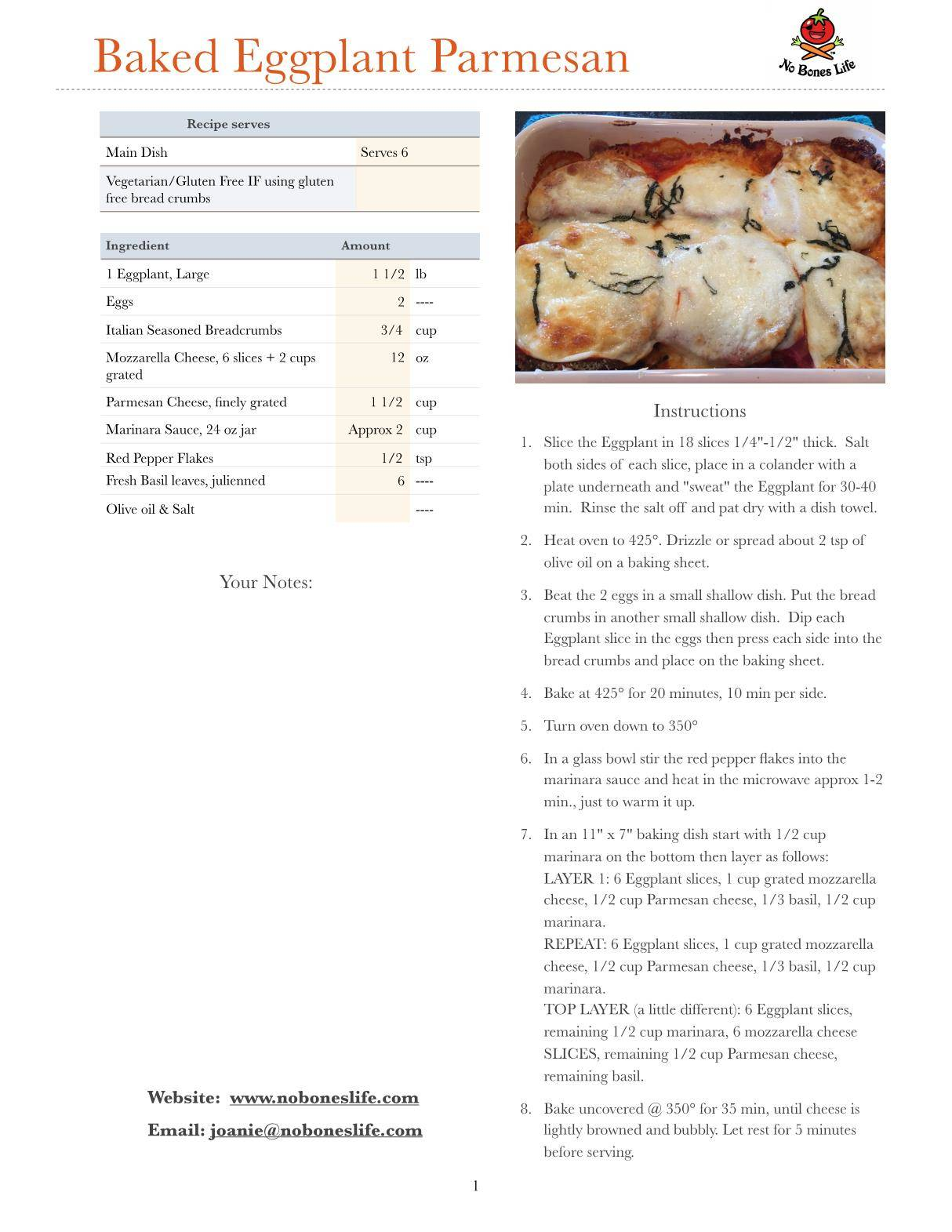 baked parmesan eggplant