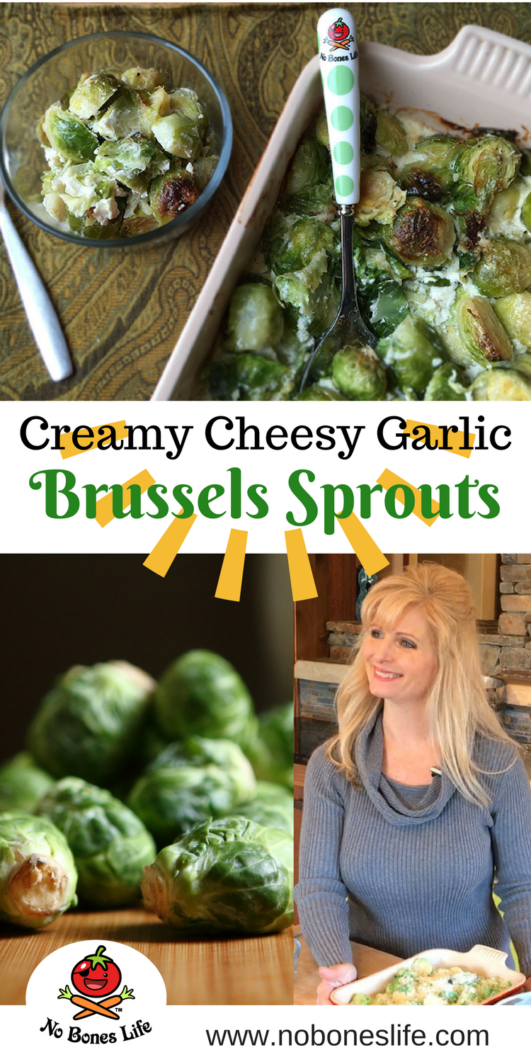 Creamy Cheesy Parmesan and garlic baked Brussels Sprouts Recipe. Yumm