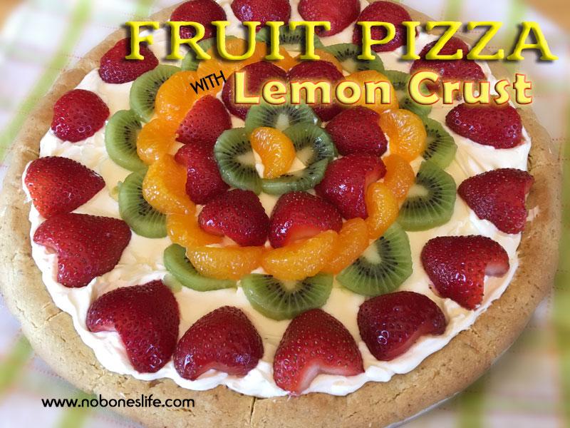 fruit pizza with lemon crust