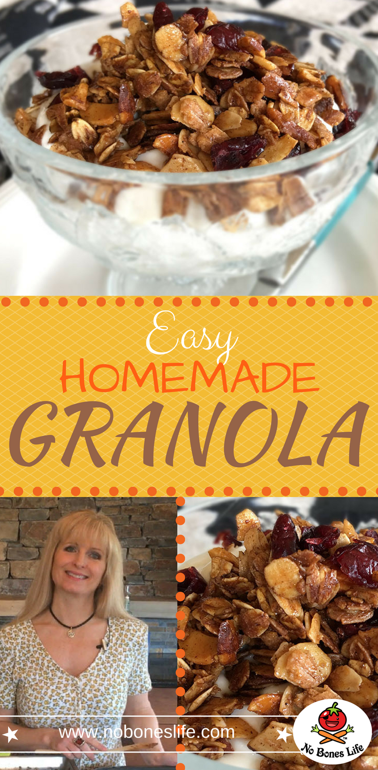 Homemade Granola. A great cereal, snack or yogurt topping.