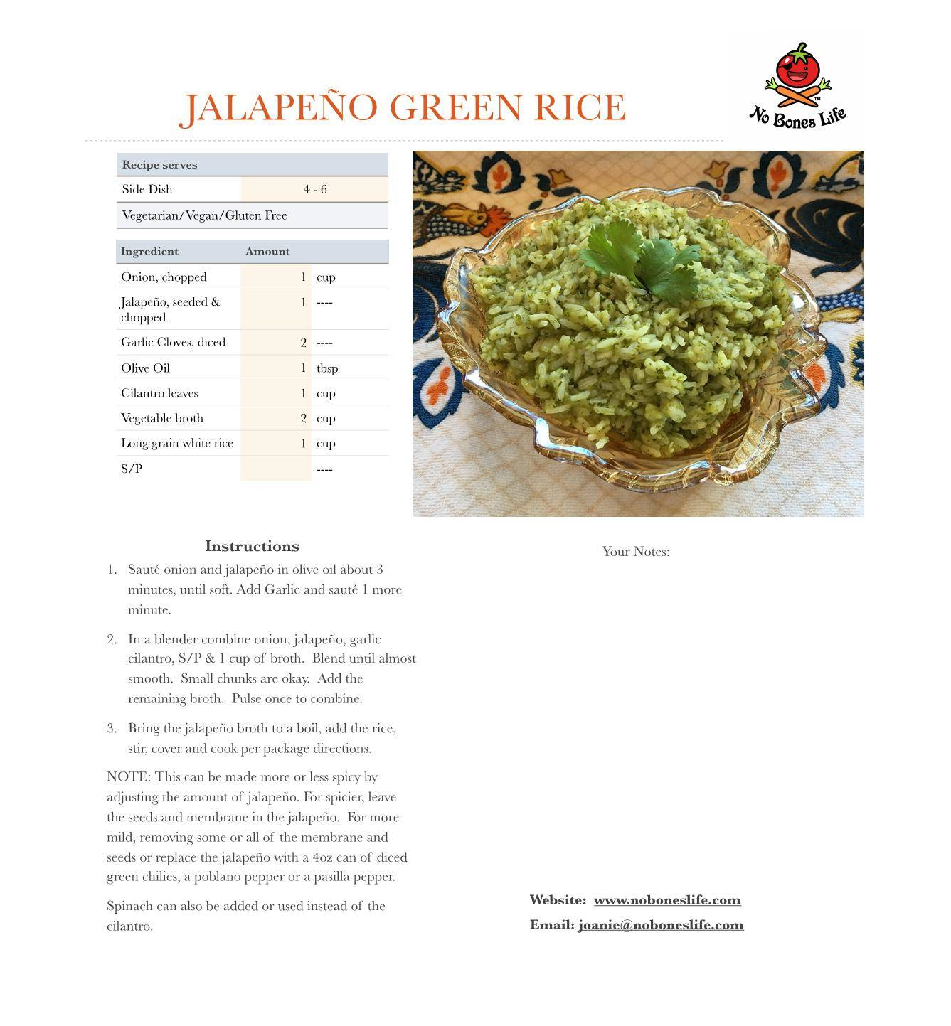 jalapeno green rice