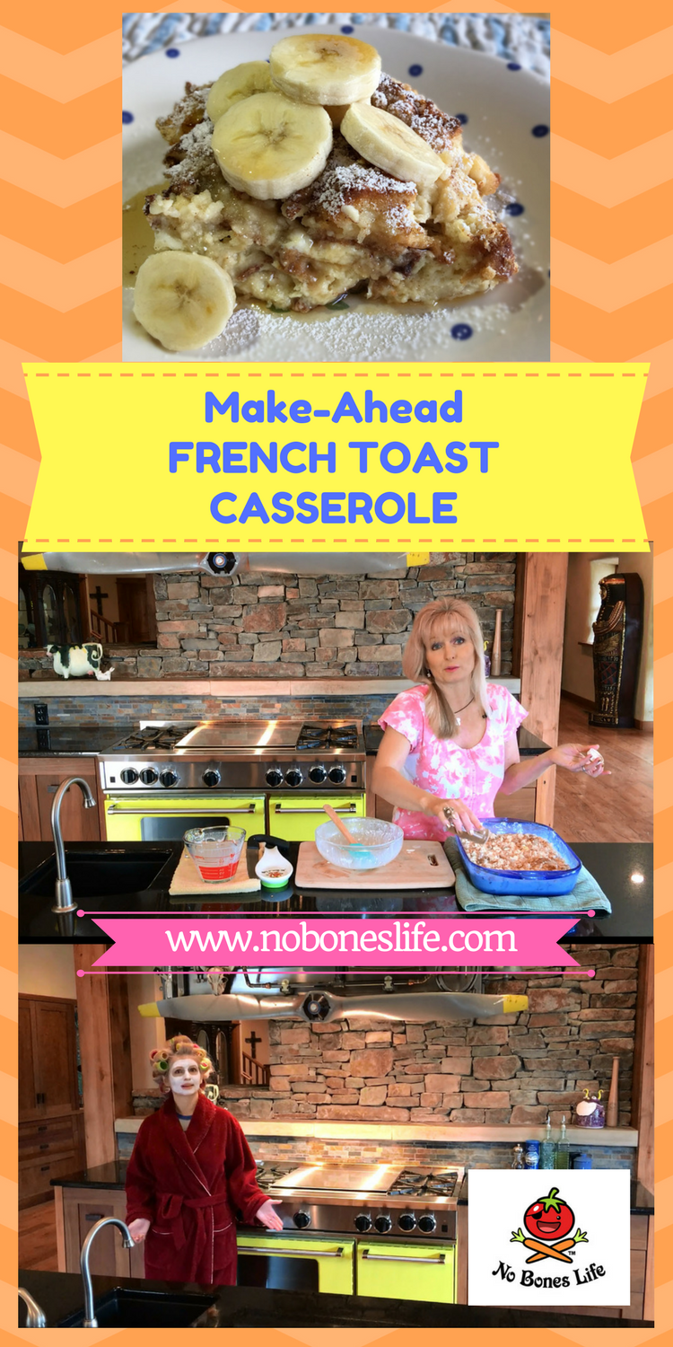 Make-Ahead French toast Casserole. Perfect for any brunch, weekend morning or holiday breakfast.