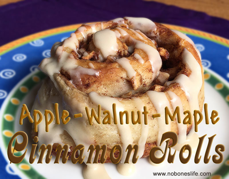 Maple Apple Walnut Cinnamon Roll Recipe