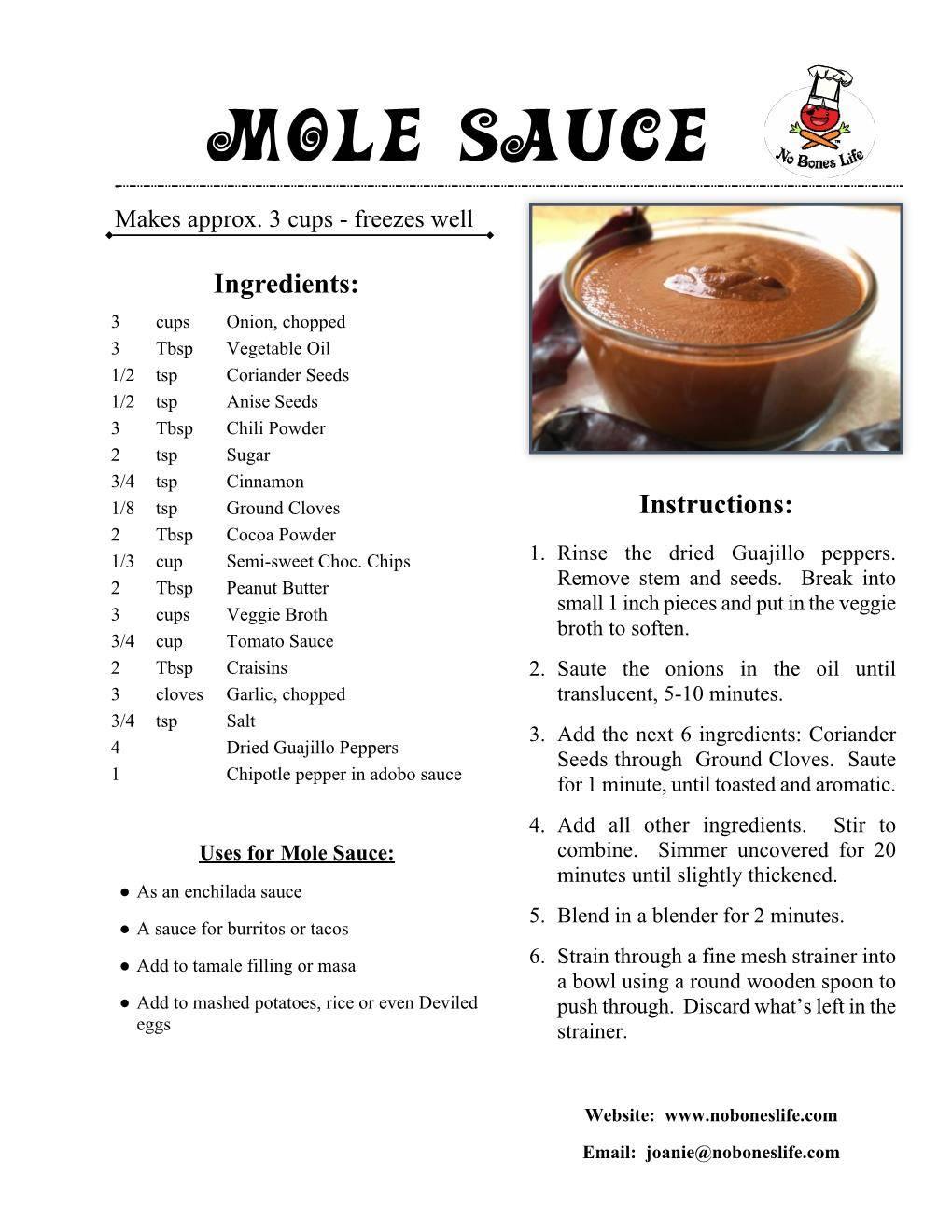 mole sauce recipe