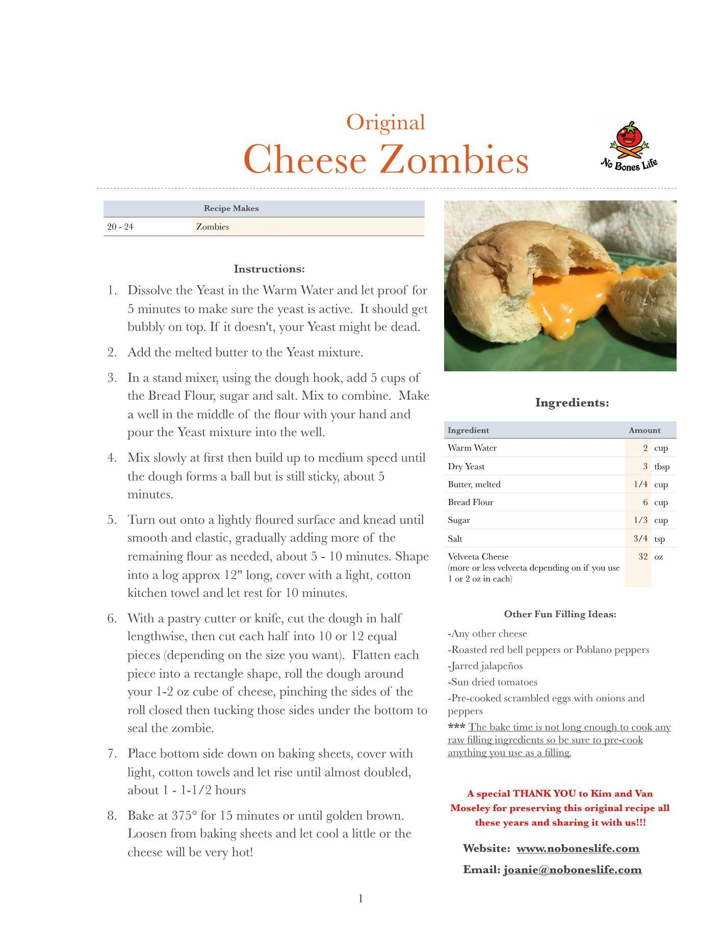 original cheese zombies