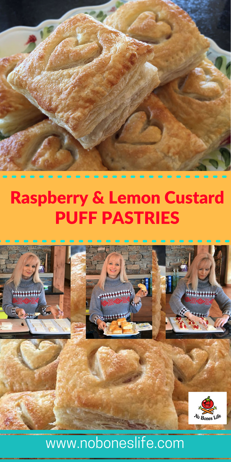 Easy and Delicious Fresh Raspberry and Lemon Custard Filled Puff Pastries