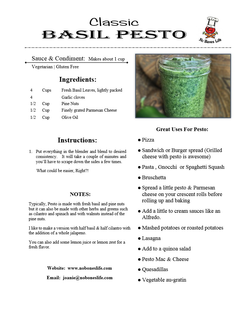 Classic Basil Pesto Recipe
