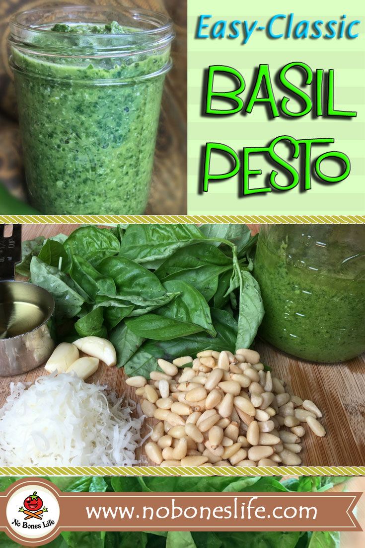 Basil Pesto for Pinterest
