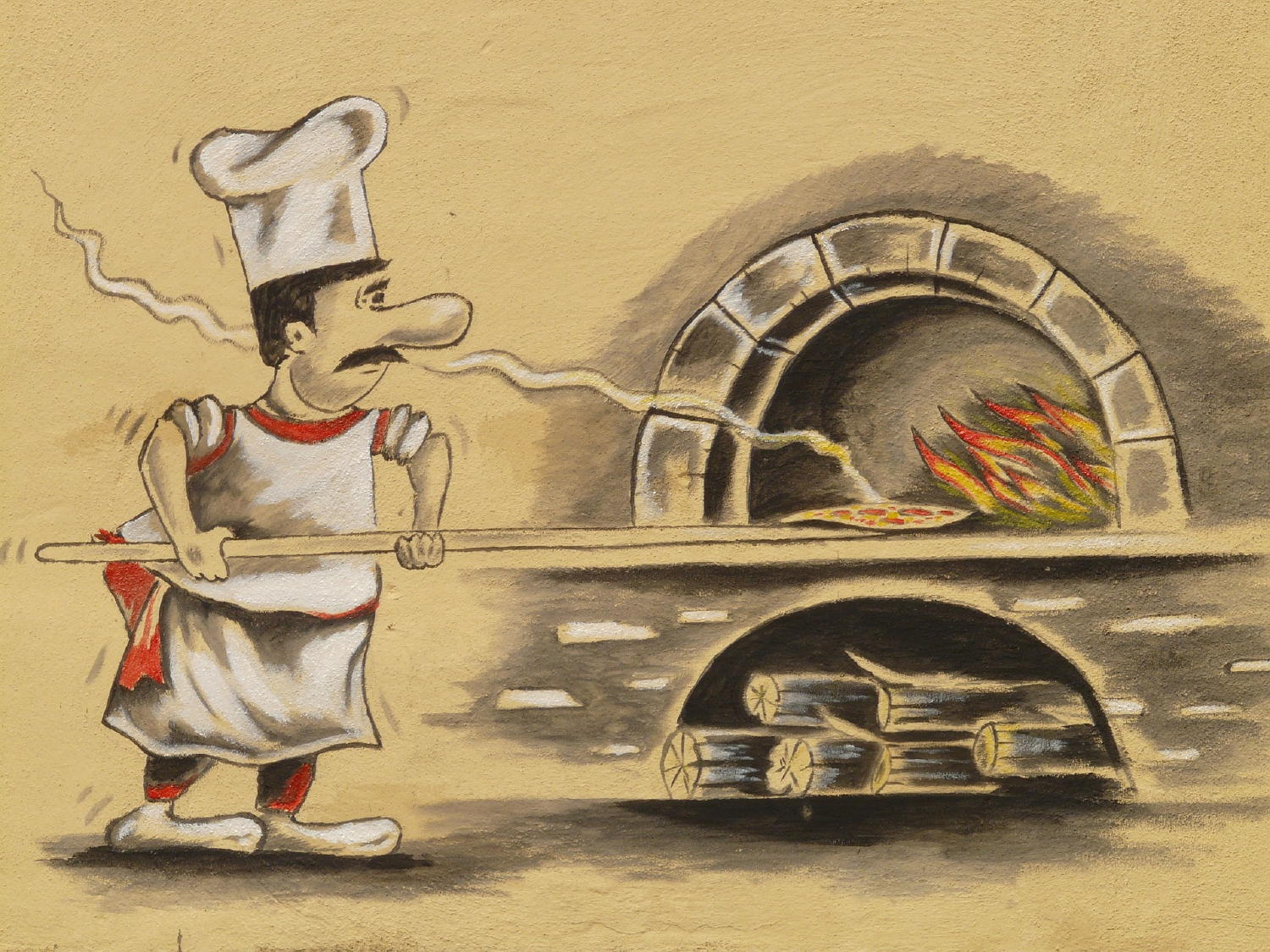 pizza making cartoon