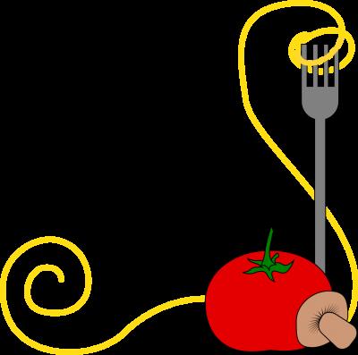spaghetti and tomato graphic image