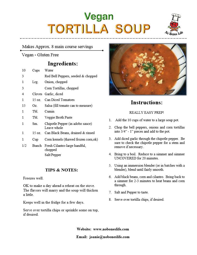tortilla soup recipe page