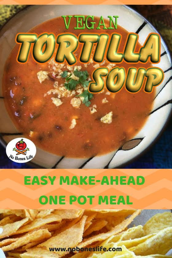 Tortilla soup Pinterest pin