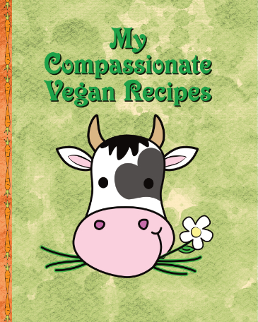 Compassionate Vegan Blank Recipe Book