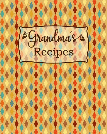 grandmas recipes blank recipe book gift