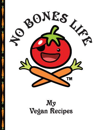 No Bones Life Blank Cookbook with Logo