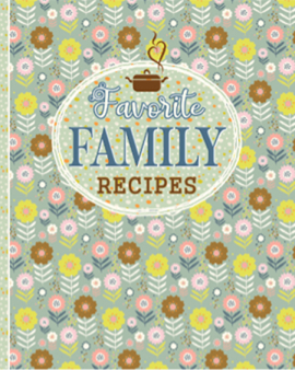 Blank recipe book favorite family recipes flower cover