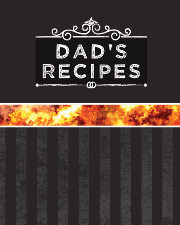 Blank recipe book dad's recipes