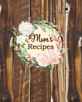 Blank 8x10 recipe book mom's recipes