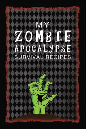 Zombie Apocalypse Blank recipe cookbook gift