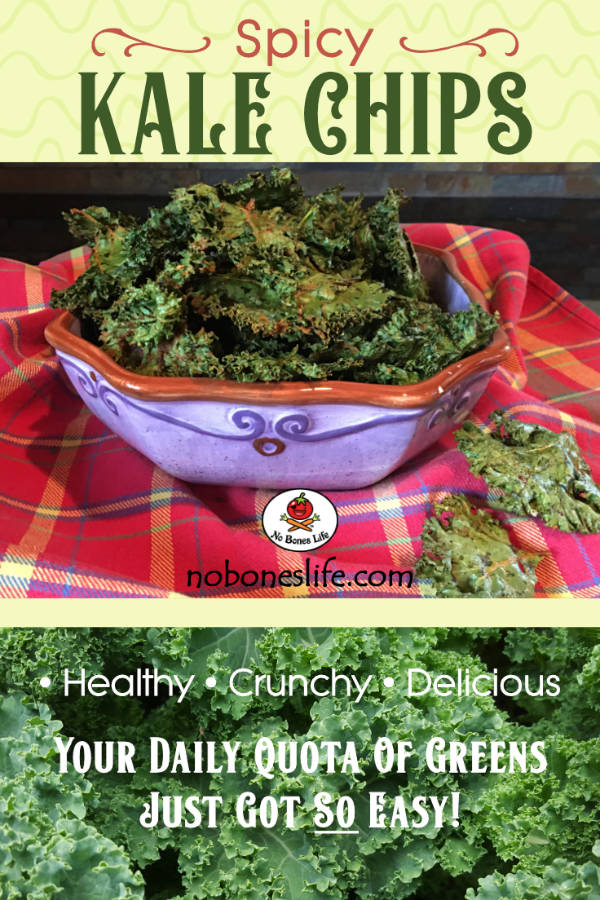 spicy kale chips pinterest
