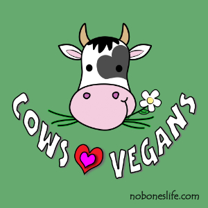 cows love vegans t-shirt pic